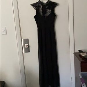 Lace neck gown